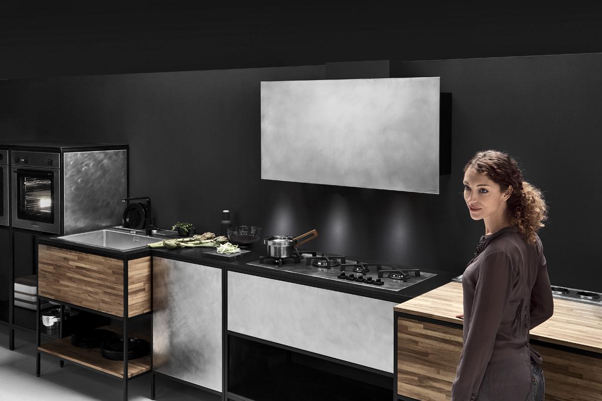 ©Varianti per Barazza - composizione cucina apertura collezione Unique