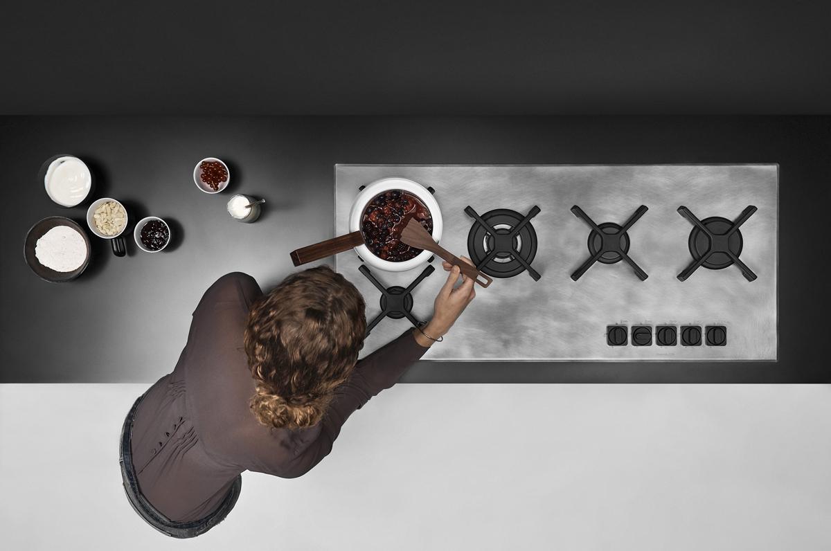 ©Varianti per Barazza - composizione cucina 5 fuochi collezione Unique