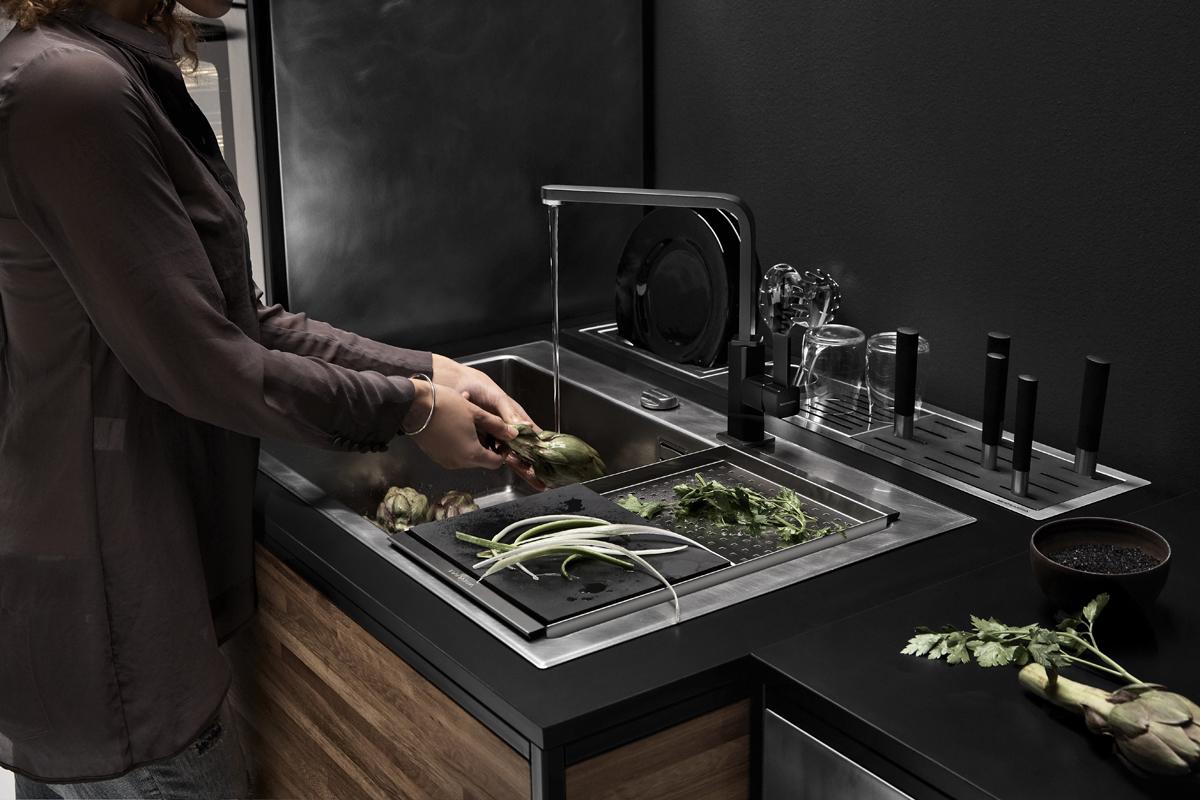 ©Varianti per Barazza - composizione cucina lavello finitura Unique