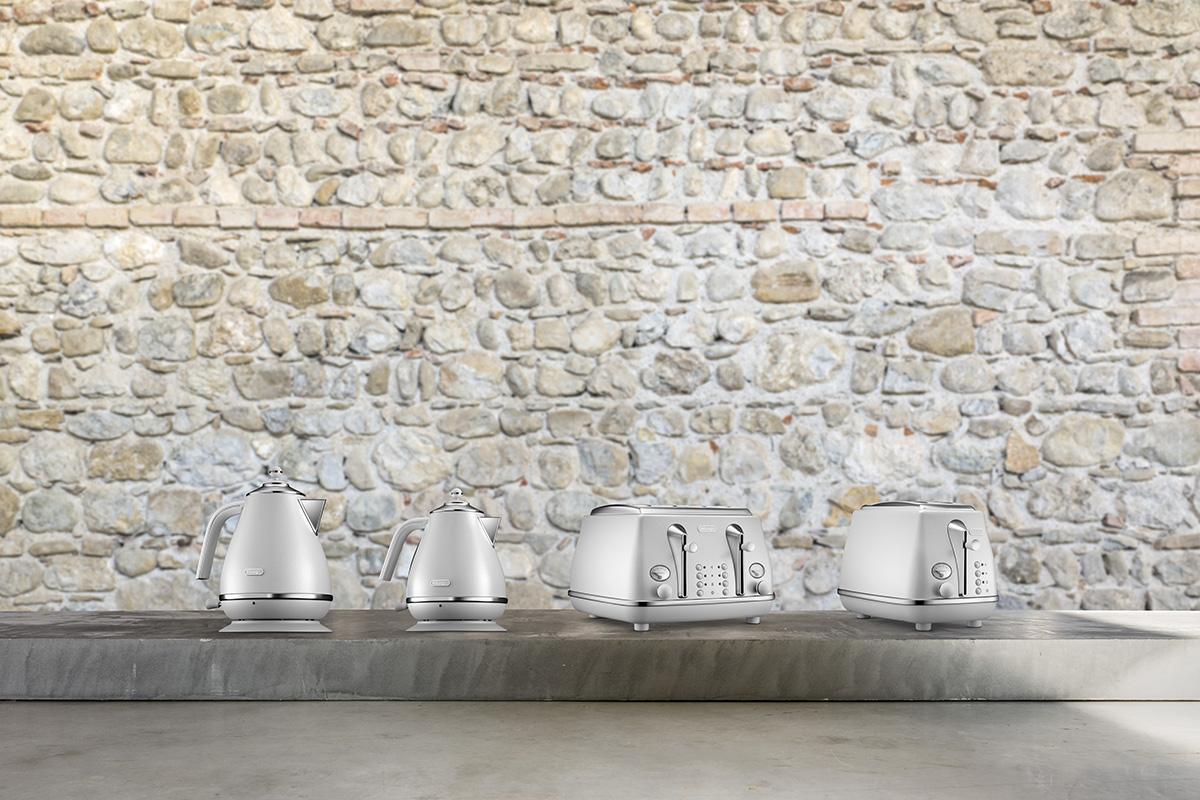 ©Varianti per DeLonghi Icona Elements: still life per la collezione White ispirata all'elemento Aria.