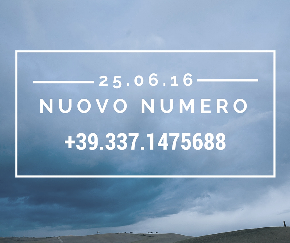 ©Varianti nuovo numero telefonico