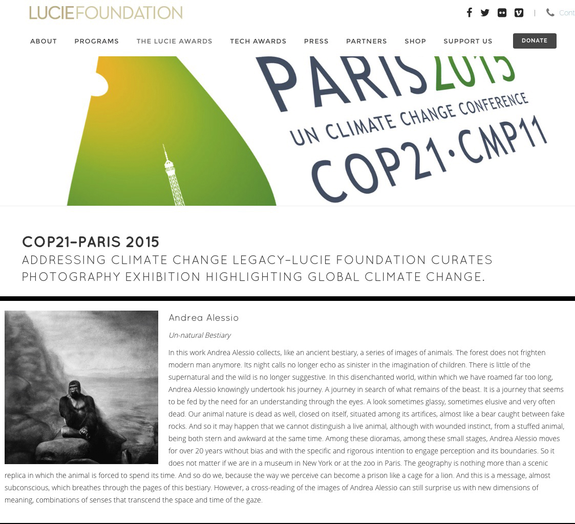 COP21 - Parigi 2015 - The Lucie Foundation