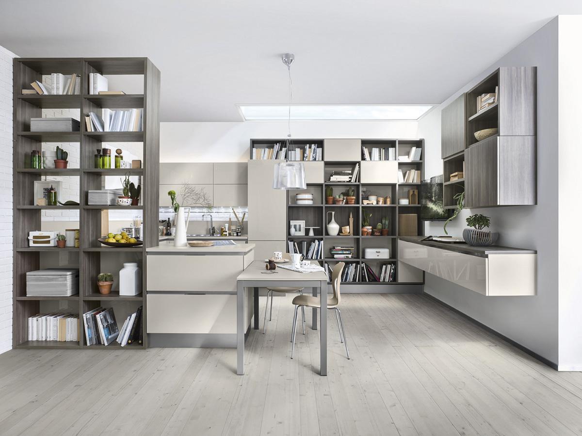©Varianti per Veneta Cucine #Living CEDRO SCURO e BEIGE ARENA.