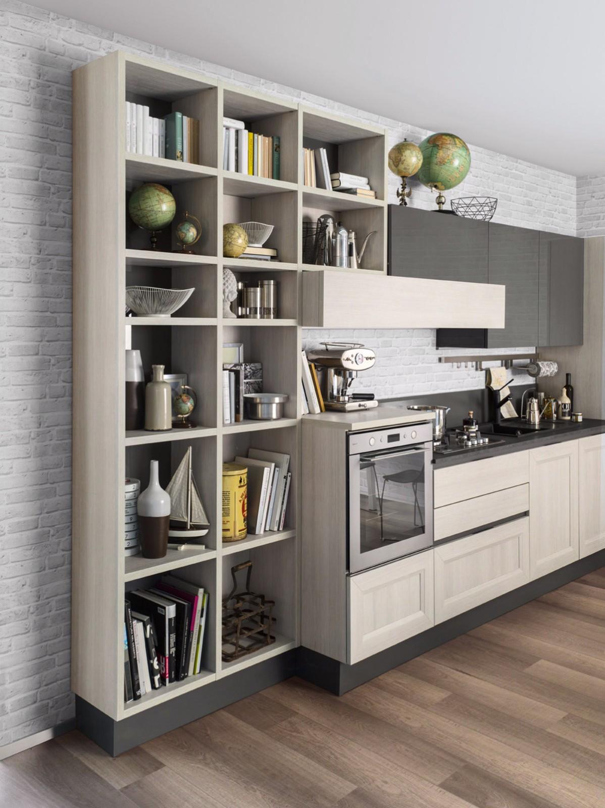 ©Varianti per Veneta Cucine #Living MARRONE VISONE e GRIGIO CORDA
