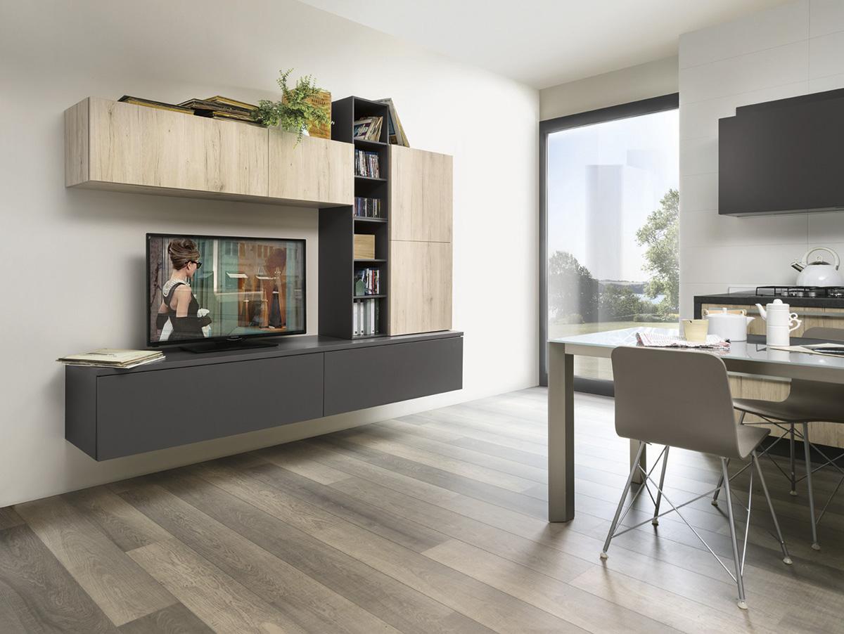 ©Varianti per Veneta Cucine #Living ROVERE MEDIO e ARDESIA